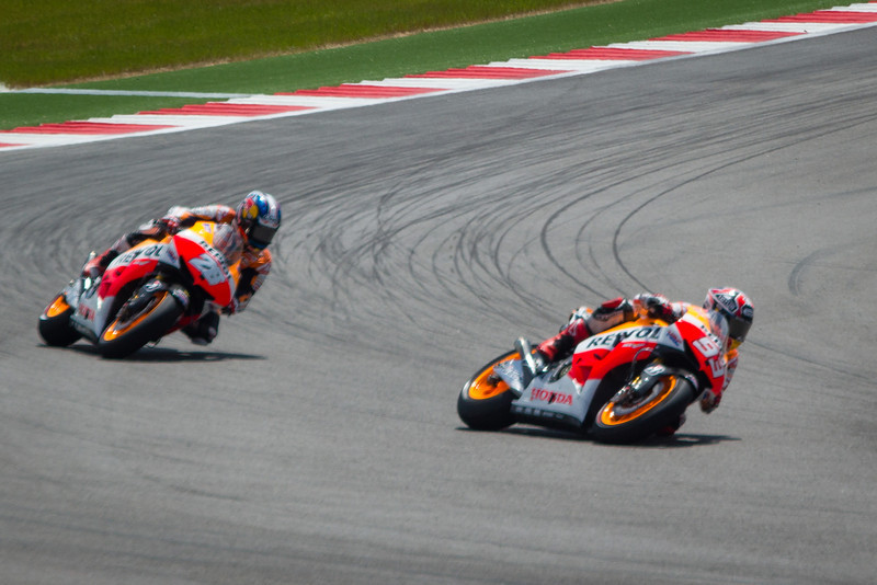 #93 Marquez in the lead