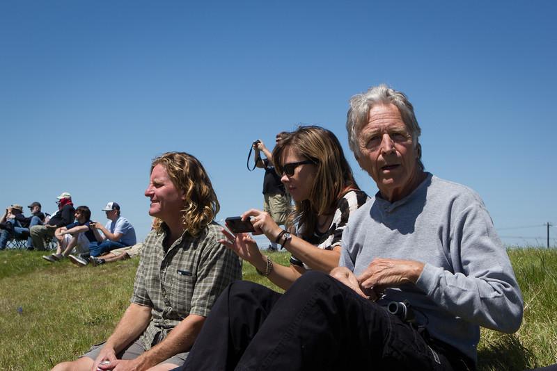 Mark and Dana Black, with Richard Black