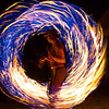Sandy, the proverbial fire dancer.