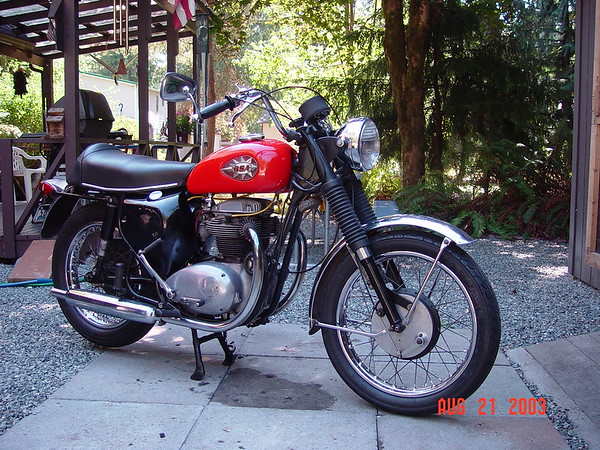Motorcycles and parts for sale.
