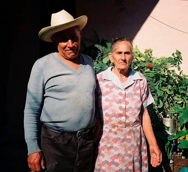 Eulalia & her husband Herman, Laguna de Sanchez.  <br /> They never forgave me for nearly burning their house down.