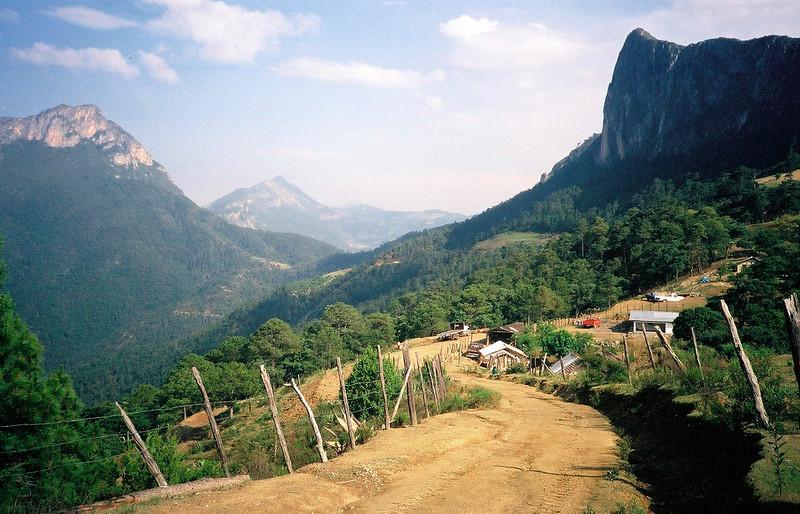Mesa de Oso community before the cabanas came.