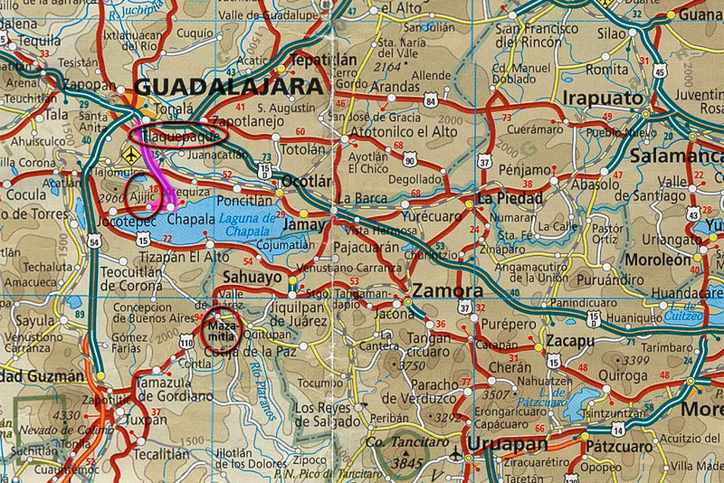 Day 7, Short blast down to Ajijic on Lake Chapala