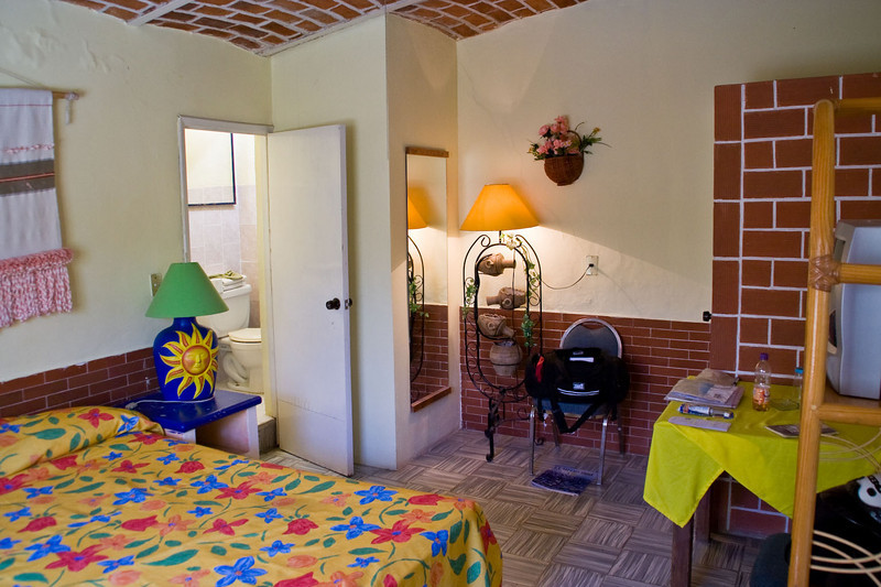My suite, Ajijic Hotel, $40 and I don't care