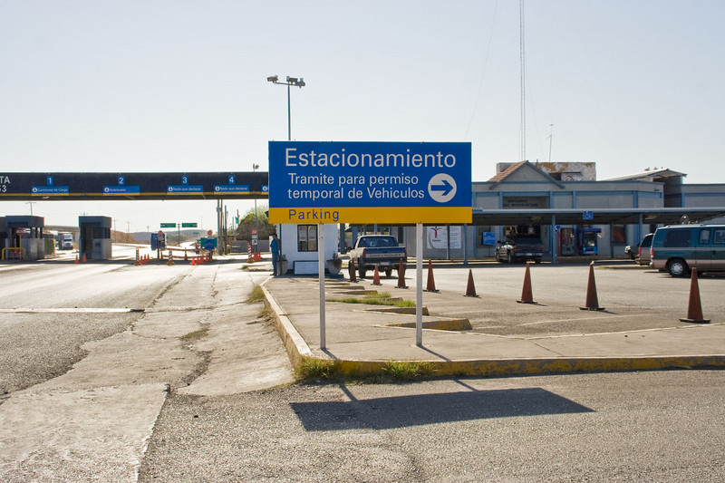 Car permits issued here, 50 miles south of the border