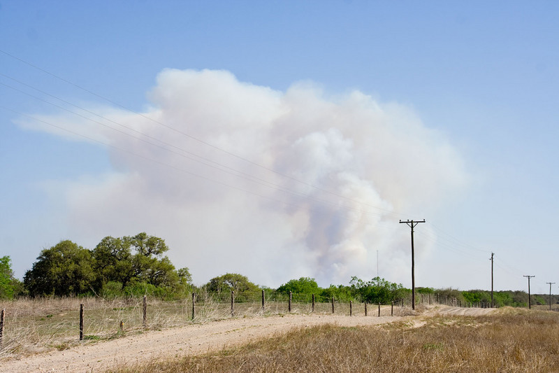 Wild fires in south Texas