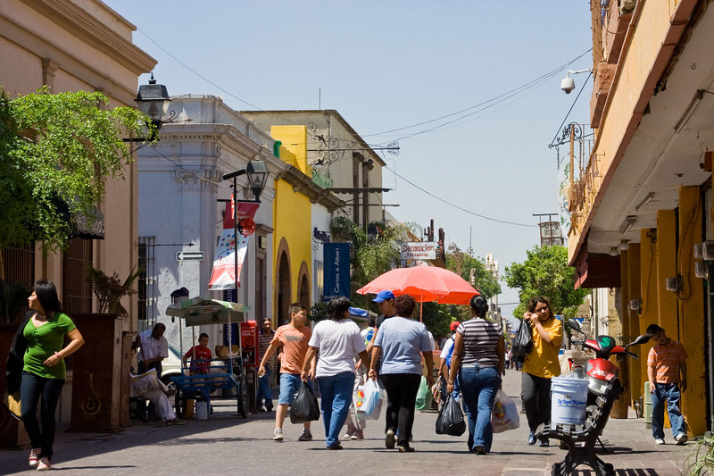About 6 square blocks of pedestrian only streets, Tlaquepaque