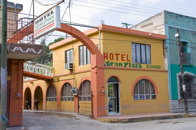 Hotel Gran Plaza in San Buenaventura. At $30 it is the only hotel immediately obvious.