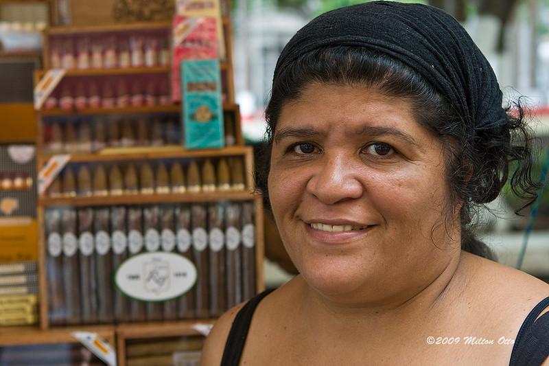 Matilde Rodríguez, the gal behind the La Fama brand cigar
