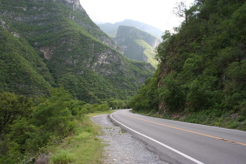 Hwy 31 cutting thru Santa Rosa canyon, between Linares and Inturbide