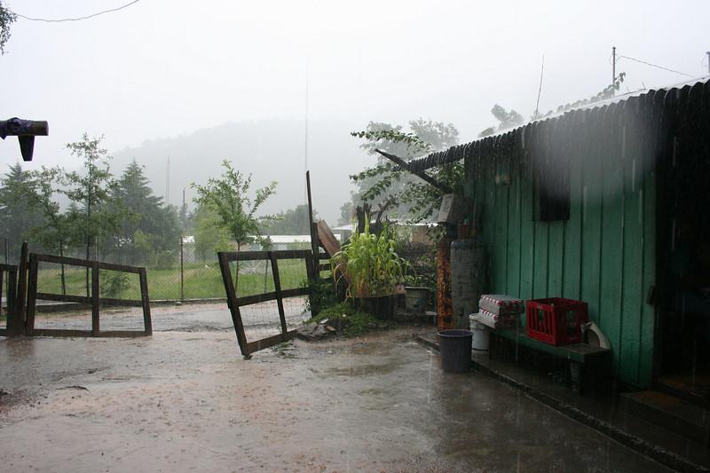 Torrential downpour in Purisima.