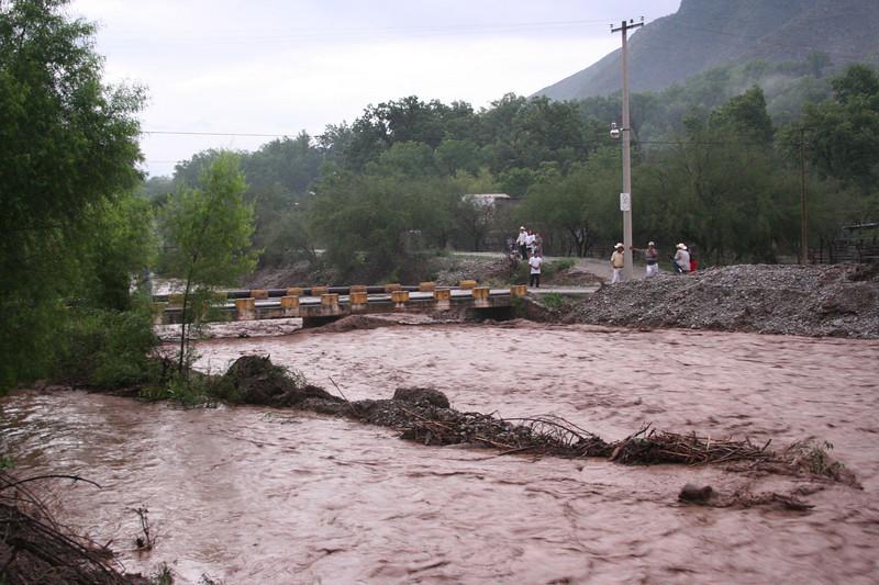 Swollen Blanco river in Aramberri