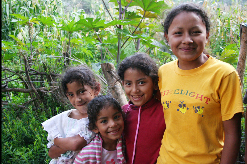The girls at Reforma, corn field in the background