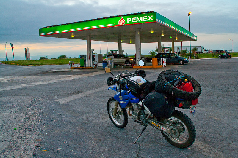 On the road again. The 2nd Mextrek for my 2006 Suzuki DRZ400-S. I rode it from Austin to Galeana, Mexico. It took a long time. Some 15 hours over two days.