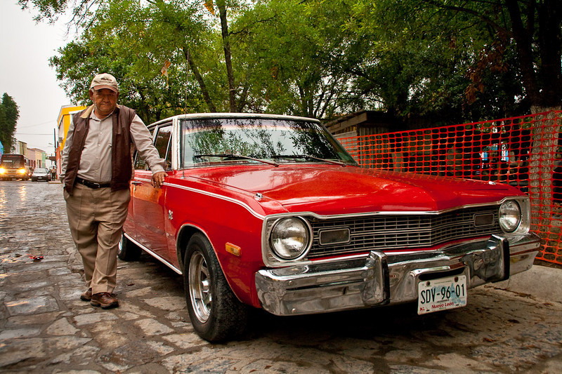 1974 Dodge. Rofelio bought it new, in Mexico.<br /> The next morning, tripping around old Santiago.