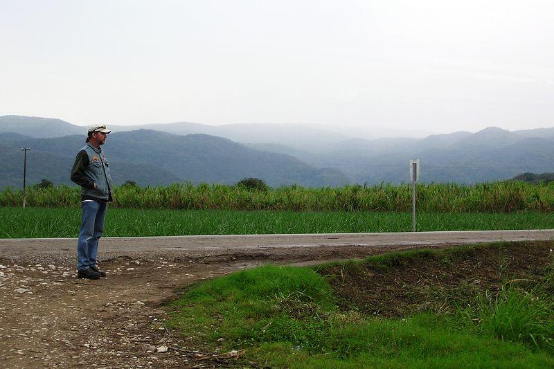 Hitchhiking near Tamasopo, San Luis Potosi