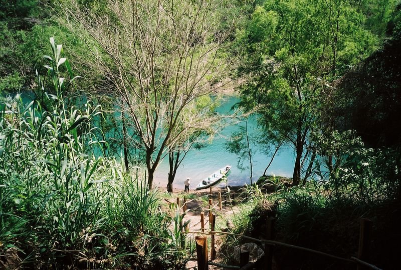The Rio Tampaon, from Cueva de Agua