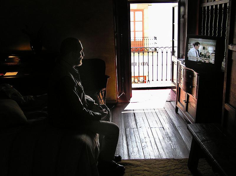 TV addict, Hotel Mansion Inturbe<br /> Patzcuaro, Michoacan
