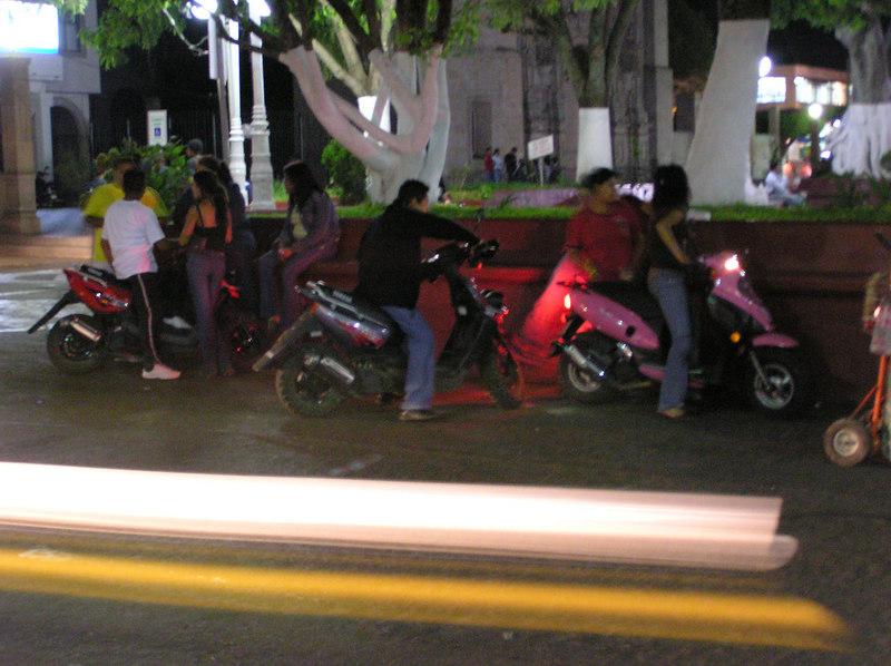 Los Reyes del Salgado, Michoacan<br /> Everyone had scooters