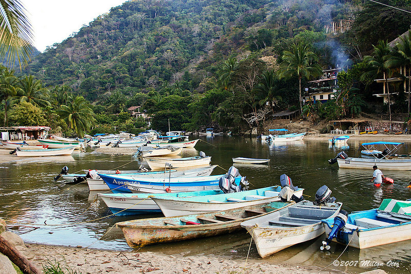 Boca Tomitlan, where you can take a water taxi to Yelapa