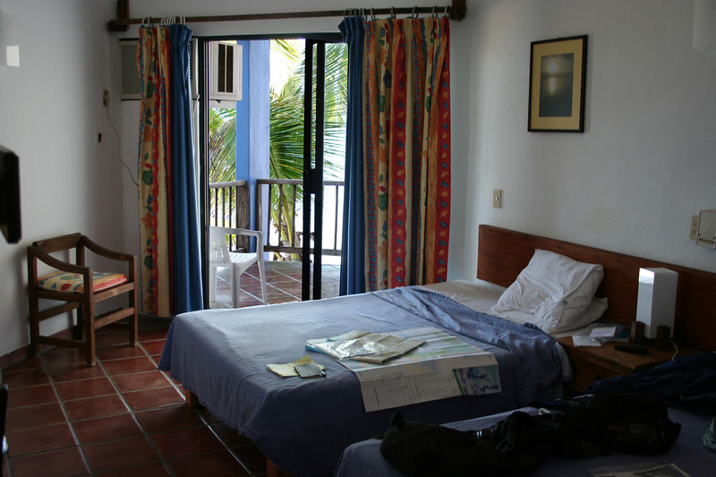 Barra de Navidad hotel room. $85 and I so don't care.