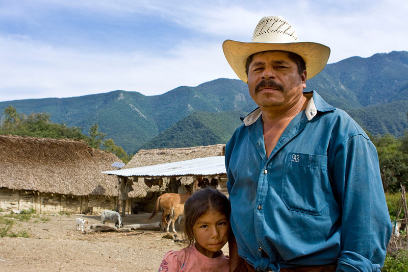 Jose's father <br /> Alamos, Nuevo Leon, Mexico. <br /> Notice the solar panel in the background.