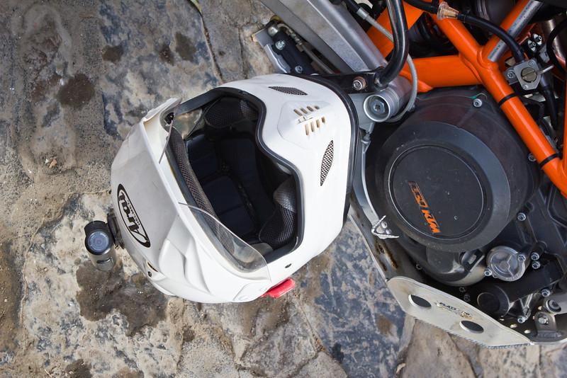 Helmet, check. <br /> Concours video camera, check. <br /> KTM, check.
