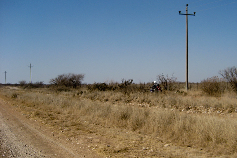 We leave the asphalt at Santa Eulalia. Multiple roads lead from cattle guard to cattle guard 22 miles to Progresso. Just follow the power lines to Progresso.