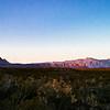 The map calls these mountains Cerros Colorados.