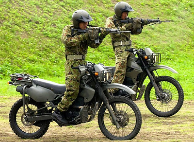 None-sidecars military motorcycles
