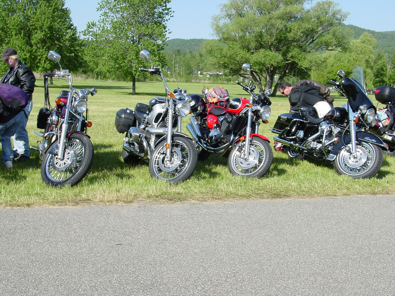 Americade with Mitch and his Triumph Thunderbird Sport.