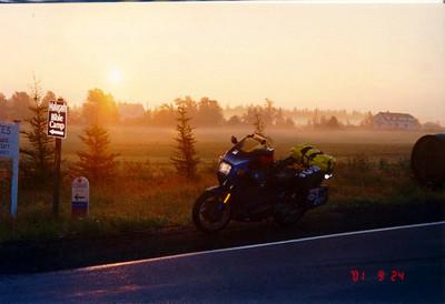 dawn, near Malagash, Nova Scotia, sep 24, 2001