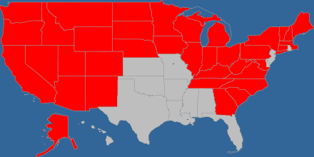 States I've ridden by motorcycle