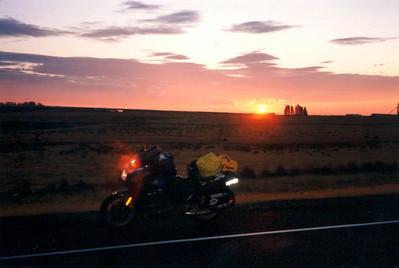 dawn, off I-84,near Umatilla, OR, july 21, 2001