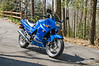 2007 blue NInja 250cc, only mods are the adjustable levers from the Ninja 500cc.
