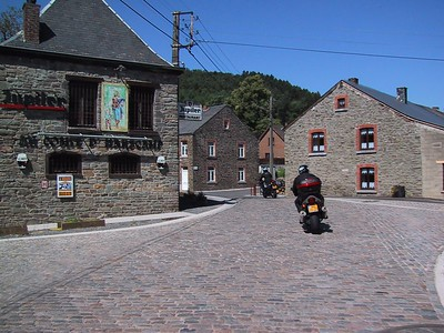 """Belgium """"child heads"""" cobblestones occasionally rattle our telelevers."""