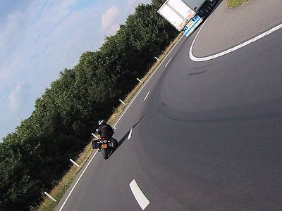 Heading south on the A2, near Eindhoven this turn is always a nice warm up.