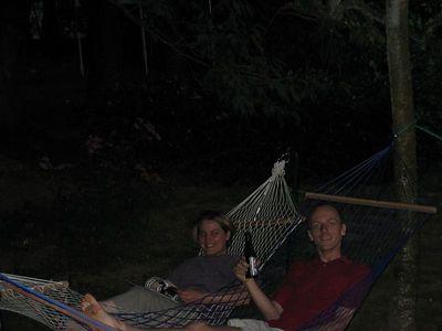 Nice cooldown in the hammocks :-)
