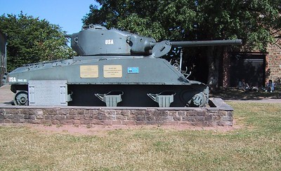 Another Sherman left abandoned.