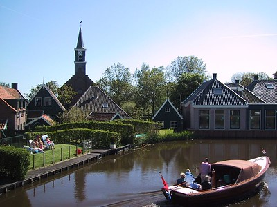 A typical old Dutch town setting, Driehuizen, located in the middle of the North Holland province.