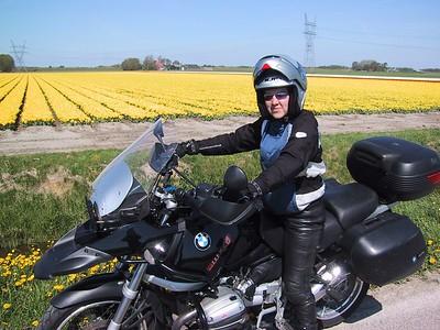 Angelique, small girl, big bike...