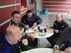 Dag 1:<br /> Luc, Robby, Eric B. en Guido tijdens de middagpauze in Einruhr (Foto Patrick).