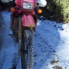 You can see by the mud on the bike that I had found plenty of gooey spots on the way up.