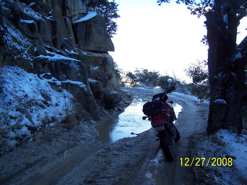 Here is a muddy section I had to get through coming up. Now I'm going back down through it.