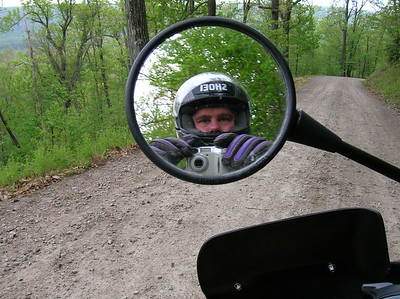 Self-Portrait with typical road surface in background
