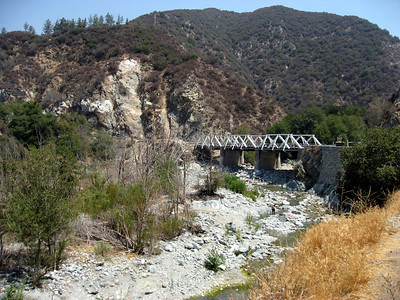 San Gabriel River. Still lot's of placer mining going on here.