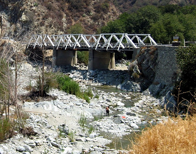 Gold miner in the San Gabriel River