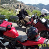 Jerry rode a Kawasaki Concours, Brock has a Yamaha YZF R1, and I have my old KLR 650.