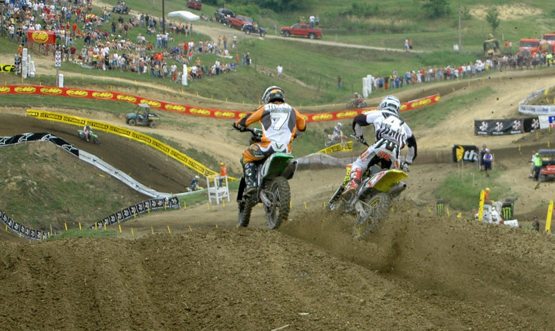 and they are both even going off the drop off where RC took the lead for good...