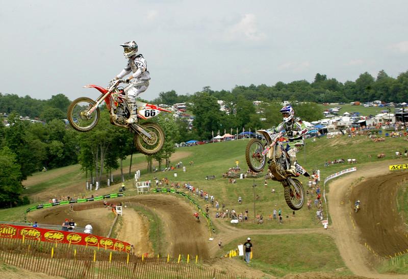 Doug DeHaan and Balbi fly up the big step up